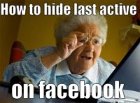 How to hide last active on facebook