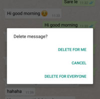 WhatsApp New Feature Delete For Everyone