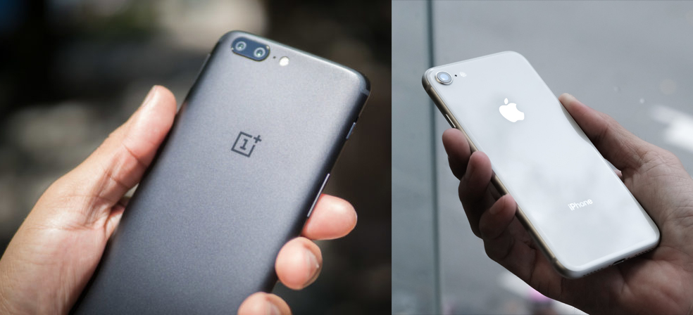 OnePlus5T-vs-iPhone8
