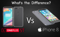 OnePlus 5T vs Apple iPhone 8: What's the Difference?