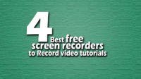 4 best free screen recorders to Record video tutorials 2018