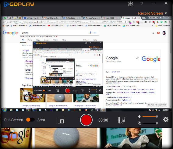 GoPlay Editor best free screen recorders to Record video tutorials
