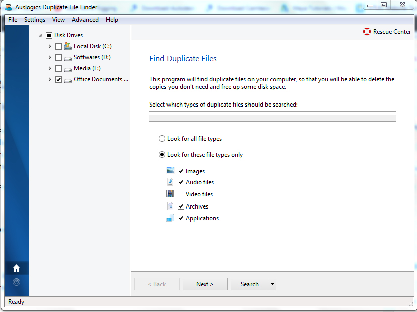 delete duplicate files with Auslogics duplicate file finder