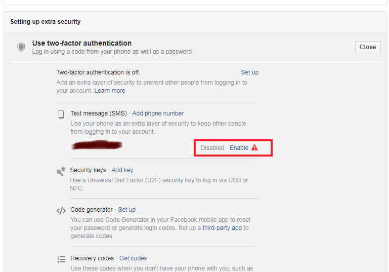How to set up Two-factor Authentication for Facebook - Tech